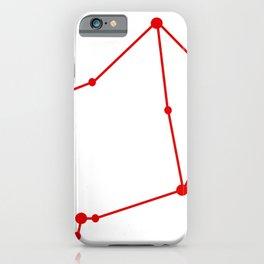 Libra (Red & White) iPhone Case