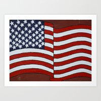 American Flag 020 Art Print
