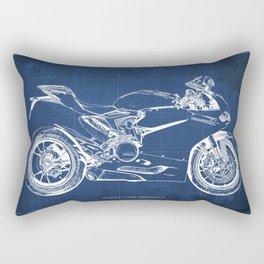 D Superbike 1299 Panigale 2015 blueprint Rectangular Pillow
