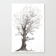 The Joy of Reading Canvas Print