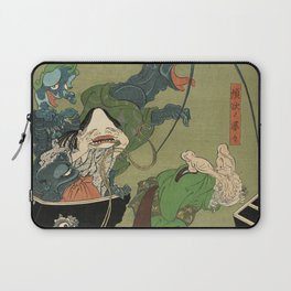 The Greedy Old Woman with a Box of Demons Laptop Sleeve
