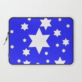 WHITE STARS ON BLUE DESIGN ART Laptop Sleeve