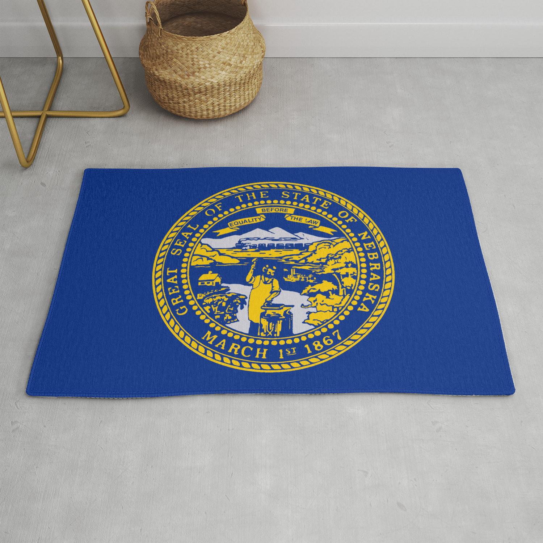 Nebraska State Flag Rug By Homestead