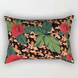 rose with dandelion - variant Rectangular Pillow