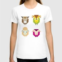 farm T-shirts featuring geometric farm by Fairytale ink