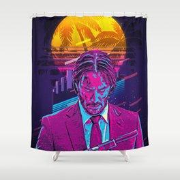 John Wick retro art Shower Curtain