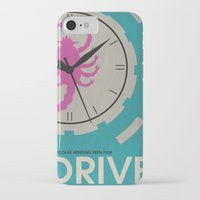movie posters iPhone & iPod Cases featuring Drive - Minimalist Movie Poster by Minimalist Movie Posters