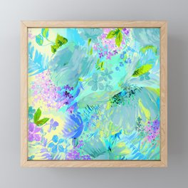 abstract floral Framed Mini Art Print