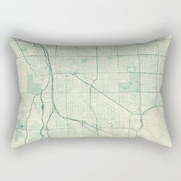 Tucson Map Blue Vintage Rectangular Pillow