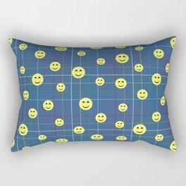 Colorful Smiley Emoji 5 - dark blue Rectangular Pillow