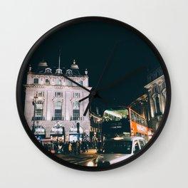 Piccadilly Cirkus by Night Wall Clock