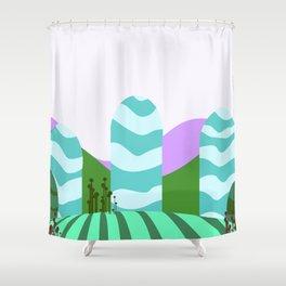 Stripes landscape  Shower Curtain