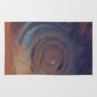 nasa Area & Throw Rugs featuring eye in the sky, eye in the desert (nasa #01) by _mackinac
