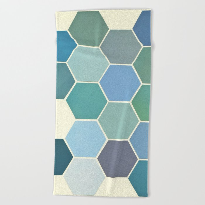 Shades of Blue Beach Towel