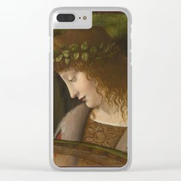 Leonardo Da Vinci - Narcissus Clear iPhone Case
