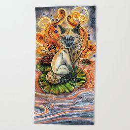 Lily Kitsune Beach Towel