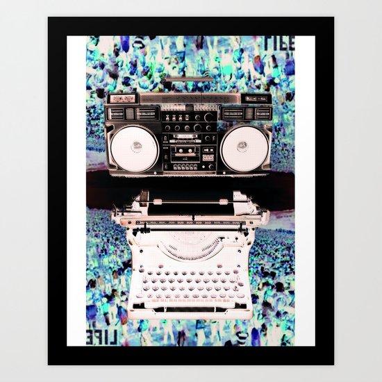 Stereo Type Art Print