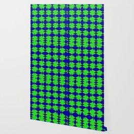 Diamond Squares Game Board Fish Faces Pattern Wallpaper