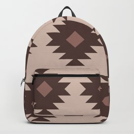 Southwestern Pattern 527 Beige Brown and Dusty Rose Backpack