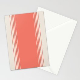 Coral Red Vertical Gradient Stationery Cards
