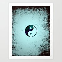 yin yang Art Prints featuring Yin & Yang by Mr and Mrs Quirynen