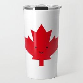 Happy Canada Day Maple Leaf (Red) Travel Mug