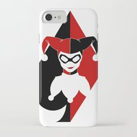 harley quinn iPhone & iPod Cases featuring Harley Quinn by EmeraldSora