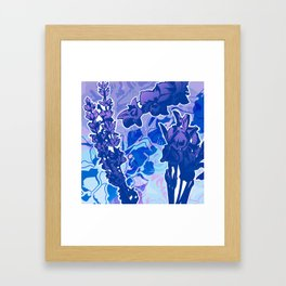 Lavender, Orchid, and Iris Framed Art Print