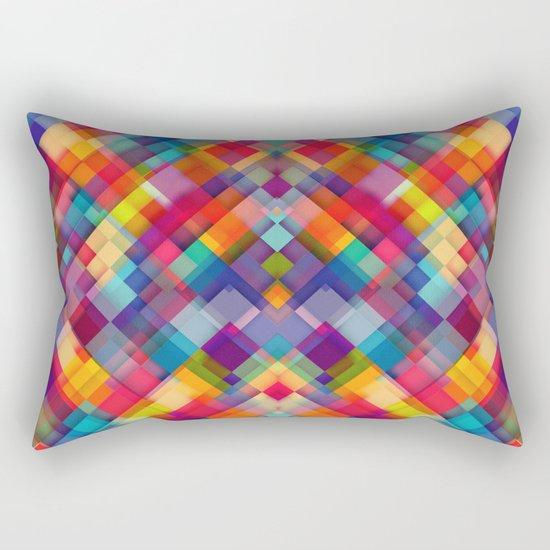 Squares Everywhere Rectangular Pillow