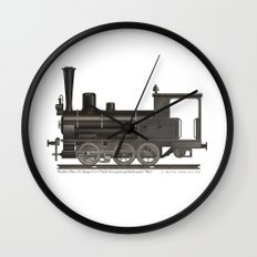 Locomotive Black Max Wall Clock