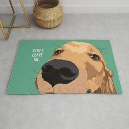 Golden Retriever dog-Don't leave me! Rug