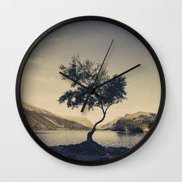 Tree at Llyn Padarn II Wall Clock