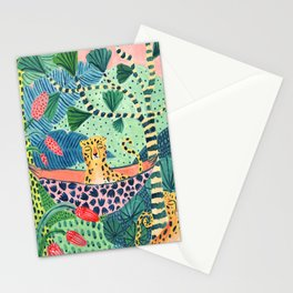 Jungle Leopard Family Stationery Cards