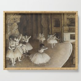Ballet Rehearsal on Stage Serving Tray