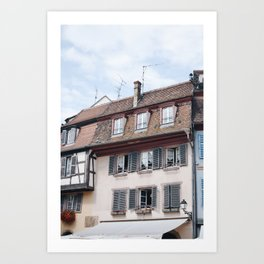 Charming home in Alsace, France Art Print