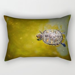 The journey of a baby turtle Rectangular Pillow
