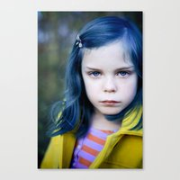 coraline Canvas Prints featuring Coraline by Malice of Alice