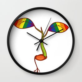 Kindness Starts With A Seed Teacher Or LGBT Gift Wall Clock