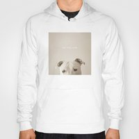 pit bull Hoodies featuring Pit bull love  by Laura Ruth