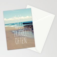 Eat Well Travel Often Stationery Cards