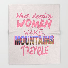 When Sleeping Women Wake Throw Blanket