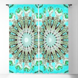 Tropical Floral Mandala Blackout Curtain