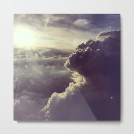 Aerial view on sky and clouds Metal Print