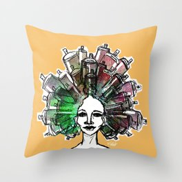 Paint the town Throw Pillow