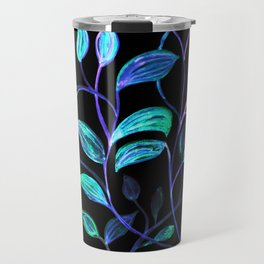 Do Not Go Into The Night, Red and Green Leaves Travel Mug