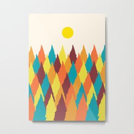 The colourful forest Metal Print