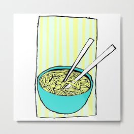 Cheesy Ramen Geo Soup Metal Print