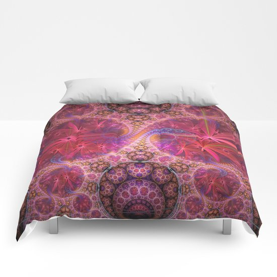 Decorative artwork with amazing curls, swirls and patterns Comforters