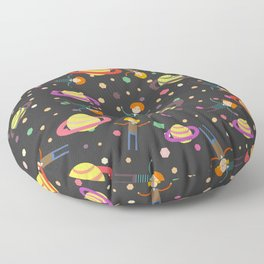 Dreamers and planets Floor Pillow