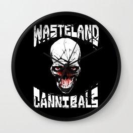 Wasteland Cannibals Logo Wall Clock